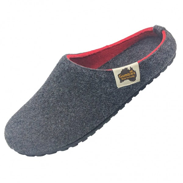 GUMBIES – Outback Slipper, CHARCOAL-RED