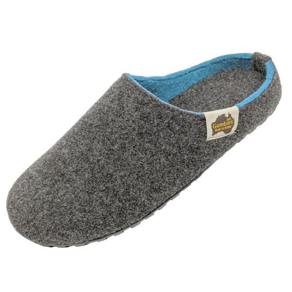GUMBIES – Outback Slipper, CHARCOAL-TURQUOISE