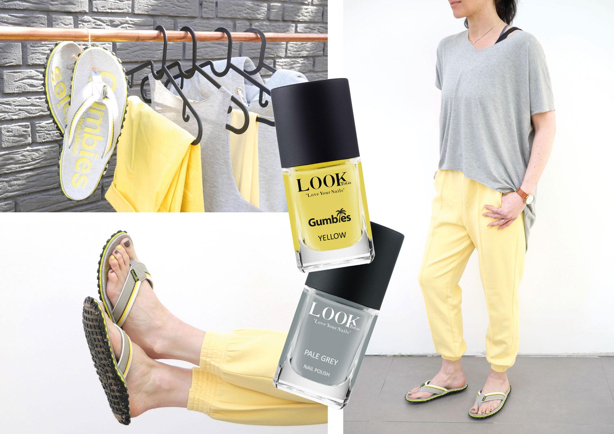 Gelb trifft auf Grau