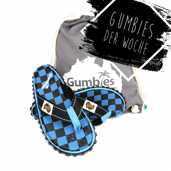 GUMBIES Zehentrenner - BLUE CHESS
